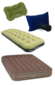 Airbeds and pillows