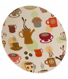 VANGO Bamboo Dinner Plate Coffee print