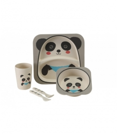 VANGO Kids Panda tableware set