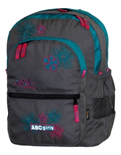 TASHEV ABC Girls Backpack - Grey/ green