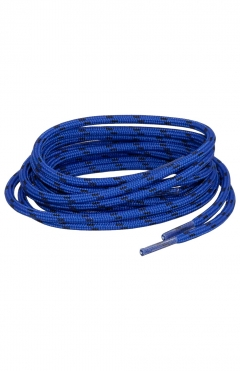 LOMER 130 cm Round Shoe Laces blue/black