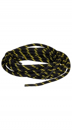 LOMER 160 cm Round Shoe Laces black/yellow